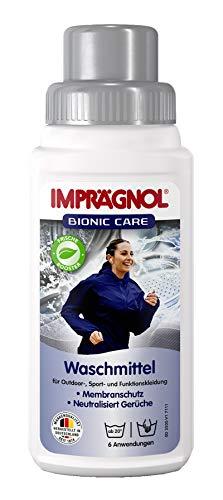 Imprägnol Bionic Care Waschmittel 250ml: Sauberkeit & Wäscheschutz für jede Wetterlage - idealer Kleidungsschutz für Outdoor,- Sport- und Funktionskleidung, PFC-frei