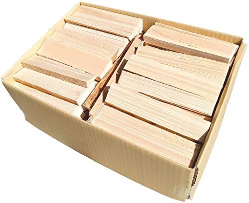 薪 宅配80サイズ 約17cm 焚火用 日本産ひのき ダンボール箱入り キャンプ バーベキュー BBQ 暖炉 コンパクト薪ストーブ アウトドア等に 針葉樹