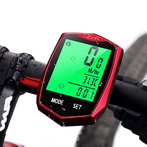 DOOK Fietscomputer, draadloos, waterdicht, 24 functies, zes talen, draadloze snelheidsmeter, lcd-display, automatische snelheid voor wielrennen, realtime speedtracking