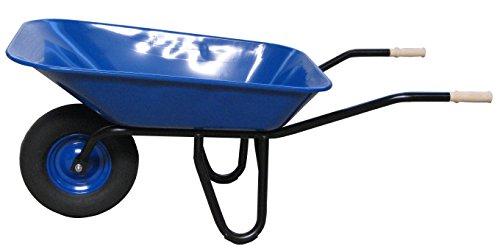 Schubkarre 95 ltr., blau lackierte Stahlmulde, Luftbereifung