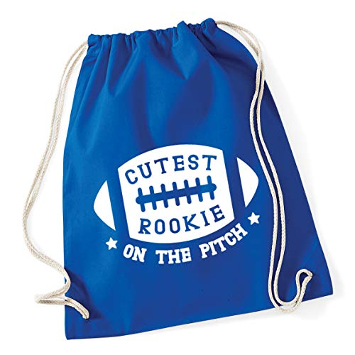Hippowarehouse Cutest Rookie on the pitch Drawstring Cotton School Gym Bag...