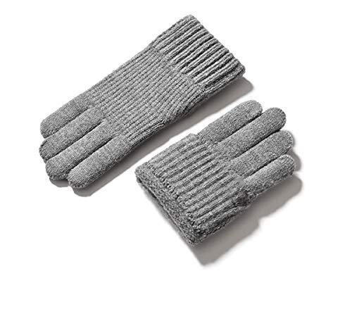 YU-gloves Strickhandschuhe mit elastischen Plüschmännern, Handschuhe zum Telefonieren, SMSen, Navigieren, Tippen, Spielen, Laufen, Radfahren, Skifahren und Laufen