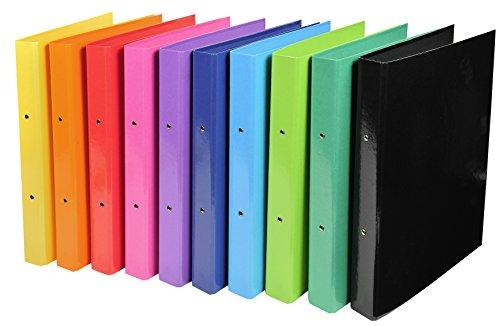 Exacompta Iderama Ringbuch, A4, Rücken 40 mm, 2 Ringe, farblich sortiert, 10 Stück
