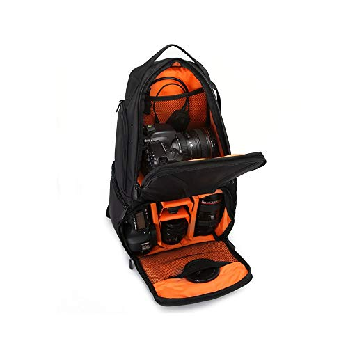 Angle-w stylish design,Simple travel, Shockproof Backpack Bag Multi Function Video Photo Digital Camera Shoulders Cushiony Minor Bag Case Waterproof camera Let us go further