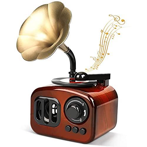 Mini Caja de música Retro fonógrafo nostálgico Caja de música decoración del hogar Creativo Adecuado para la Ventana de la cafetería del Bar