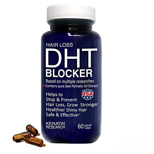 Bloqueador DHT de pérdida de cabello fabricado con aceite de palma de sierra pura, evita y detiene la pérdida de cabello fortalece las raíces de EE. UU.