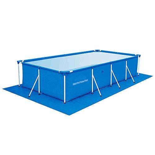 Afneembaar Rechthoekig Zwembad met Stalen Frame, Family Swimming Kinderbad met Filterpomp - Verdikkingszwembad voor Kinderen Volwassen Outdoor Garden Backyard