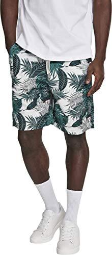 Urban Classics Herren Shorts Pattern Resort, Mehrfarbig (Palm Leaves 01681), W(Herstellergröße: L)