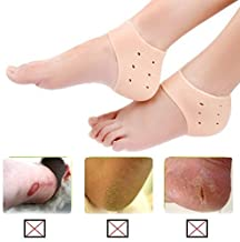 SWEENG Silicone Gel Heel Pad Socks for Pain Relief for Men and Women (Free Size) - 1 Pair
