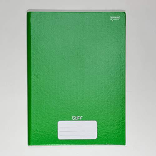 Caderno Brochura 96 folhas Jandaia Stiff Verde 190X250mm