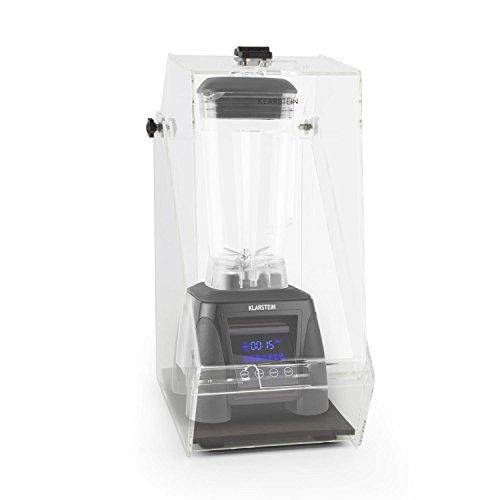 KLARSTEIN Herakles 8G - Set mixeur Blender sur Pied, Robot mixeur à Soupe, jus, Smoothie, purée + Protection Anti-Bruit (1800 Watt, Carafe 2 L sans BPA, régulateur de Vitesse) - Noir