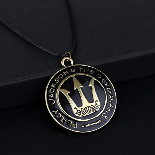 WYFLL Collar Vintage Percy Sea Jackson Collar Cadena De Cuerda Aleación Collar Grande Accesorios De Joyería para Hombres Y Mujeres