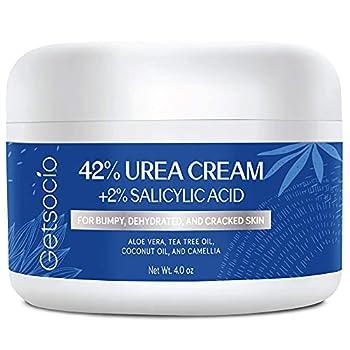 Urea Cream 42% Plus Salicylic Acid 4 Oz Upgraded Callus Remover Hand Cream Foot Cream for Dry Cracked Feet Hands Heels Elbows Knees Intensive Moisturizes & Softens Skin Exfoliates Dead Skin