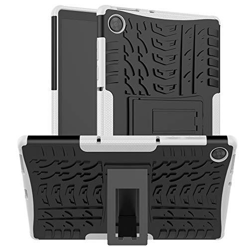 XITODA Custodia per Lenovo Tab M10 HD 2nd Gen 10.1 Pollici TB-X306X TB-X306F - Protezione in Silicone & PC Duro Stand Cover per Lenovo Tab M10 HD (2nd Gen) Tablet,Bianca