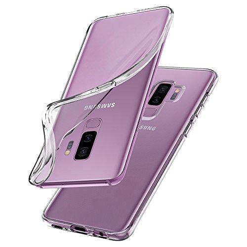 【Spigen】 Galaxy S9 Plus ケース [ SC-03K SCV39 ] 対応 TPU 全面クリア 超薄型 超軽量 リキッド・クリスタル 593CS22913 (クリスタル ・クリア)