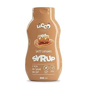 LOCCO - Sirope de caramelo salado sin azúcar bajo en calorías