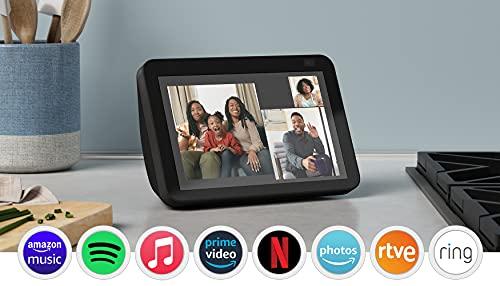 Nuevo Echo Show 8 (2.ª generación, modelo de 2021)   Pantalla HD inteligente con Alexa y cámara de 13 MP   Antracita