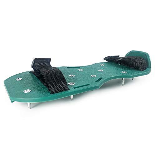 QWORK Nagelschuhe Profi, Nagelsohle Estrichschuhe mit 19mm Spikes, perfekt für Epoxidböden, Überzüge, Abdeckung, grüne Farbe (Paar)