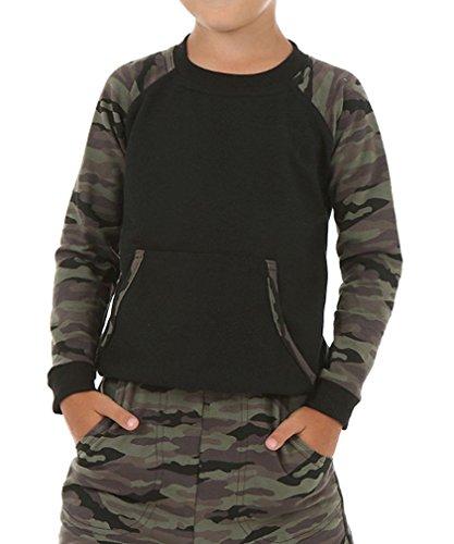 Dykmod Camouflage Militär Jungen Bluse Pullover Skate hk85 140