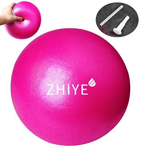 Zhiye Mini Pilates Ball Yoga Small Exercise Ball Core Fitness Bender, Yoga, Stability, Barre, Training Physical Therapy Anti-Slip Swiss Ball Gym Home
