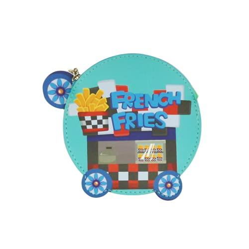 ダイカットキーホルダー(ファスナー付き) キッチンカー/フレンチフライ/グリーン