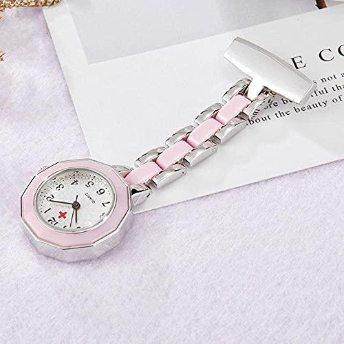 Enfermera Relojes señoras Clip Reloj de Bolsillo Colgante Colgante Mesa Circular Enfermera Reloj Cadena Reloj Cuidado Reloj Clips Relojes-Reloj 6