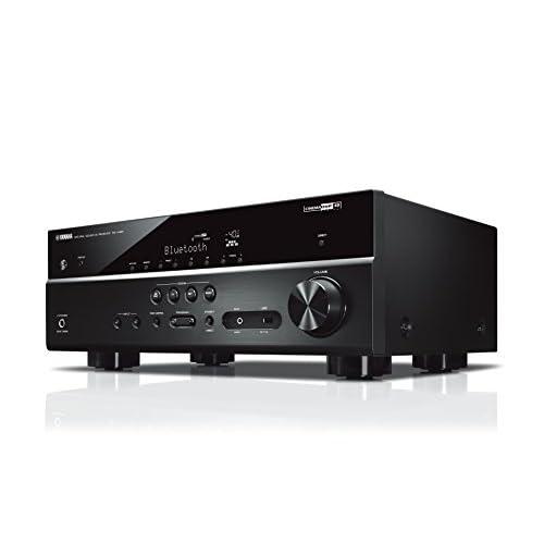 Yamaha RX-V485 Sintoamplificatore MusicCast multicanale – Ricevitore AV 5.1, 80 W per canale su 6 Ohm, supporto 4K, audio HD con Cinema DSP – WiFi dual band integrato, Bluetooth, USB, Nero
