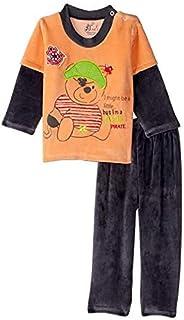 Jockey Bear Embroidery Long Sleeves Round Neck Sweatshirt with Pants Pajama Set for Girls