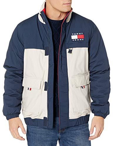 Tommy Hilfiger Tommy Jeans Men's Colorblock Jacket, Black Iris/Multi, X-Small