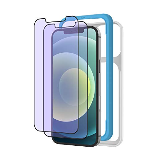 ブルーライトカット NIMASO ガラスフィルム iPhone12 / iPhone12Pro /11/XR 用 保護 フィルム 2枚セット