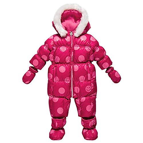 Chicco Luxury Line Be Happy Pink Daunen-Schneeoverall 9-12 Monate Schneeanzug