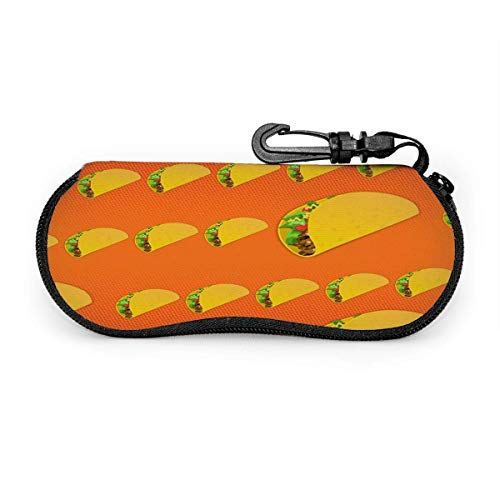 sherry-shop Brillenetui Taco Food Hamburger Orange Brillenetui Box Kratzfeste tragbare Reise-Sonnenbrillenhalter Clamshell