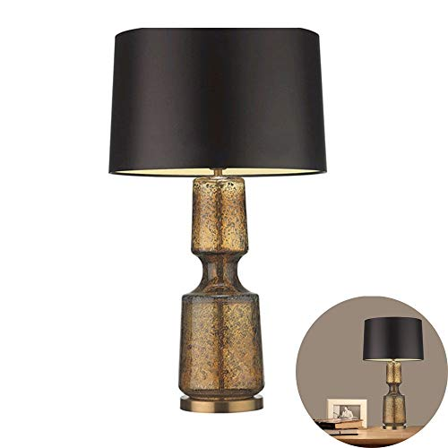 FYMDHB886 Tafellamp van stof, minimalistisch, modern, warme achtergrondverlichting met vaas van glas met motieven, slaapkamer voor woonkamer, bedlampje, bedlampje, 28 inch, Size, B