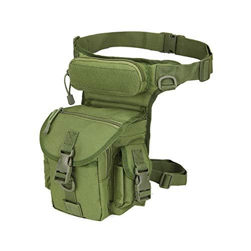 LUOEM Sac de Taille imperméable en Plein air Poche de Jambe Militaire pour Le vélo randonnée Camping (armée Verte)