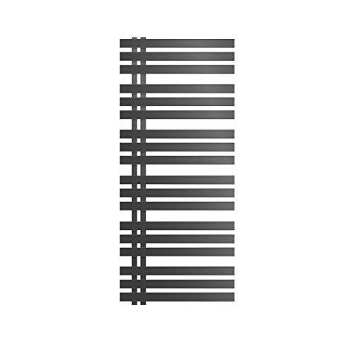 ECD Germany Iron EM Design Badheizkörper Elektrisch mit Heizstab 900W - 600 x 1400 mm - Anthrazit - Designheizkörper Paneelheizkörper Heizkörper Handtuchwärmer Handtuchtrockner
