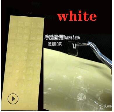Trasparente adesivo Russo Film Lingua Lettera Copertura Della tastiera per Computer Notebook Protezione antipolvere per PC Accessori per Laptop Rosso Bianco