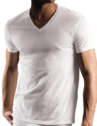 DKNY Men's 3 Pack V-Neck Tee Shirt, White, X-Large