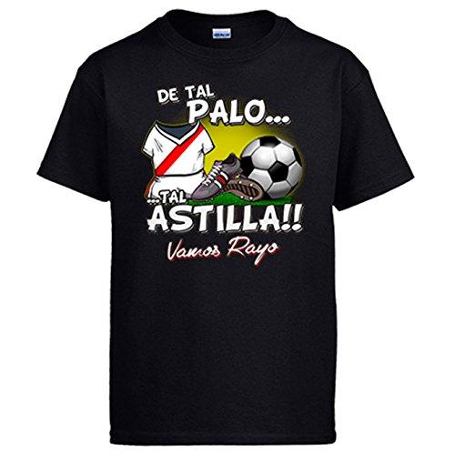 Diver Camisetas Camiseta De Tal Palo Tal Astilla Rayo Vallecano fútbol - Negro, 7-8 años