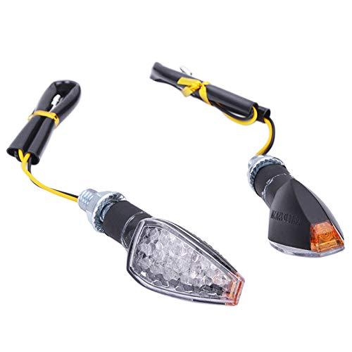 2 unids Universal 12V Señales de Giro Parpadeante Motocicleta LED Luces LED Trasero Indicador Luz de Cola para Cafe Racer (Color : Clear)