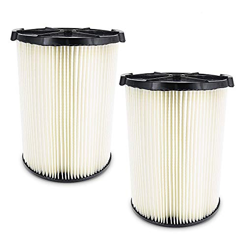 2 Pack VF4000 Replacement Filter for Ridgid Shop Vac Filter 72947 Wet Dry 5-20 Gal & 6-9 Gal Husky Vacuum, Compatible WD5500 WD0671 RV2400A RV2600B