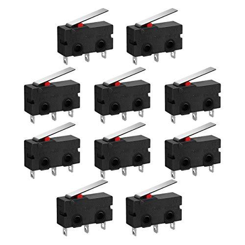 Micro-interrupteur bascules installation Commutateur 5 A 125 VDC 250 VCA 30 Mohm