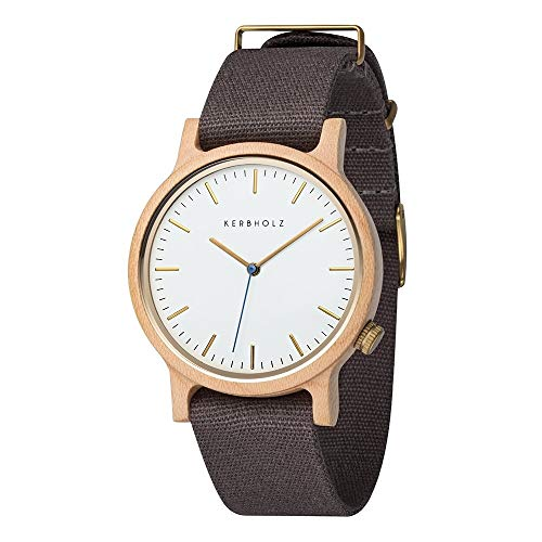 Kerbholz Unisex Erwachsene Analog Quarz Uhr mit Stoff Armband 4251240407203