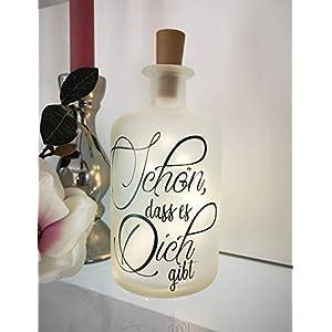 AScreativ Dekoflasche mit Beleuchtung – Schön das es Dich gibt LED Leuchte Leuchtflasche Bottlelight Lichterkette…