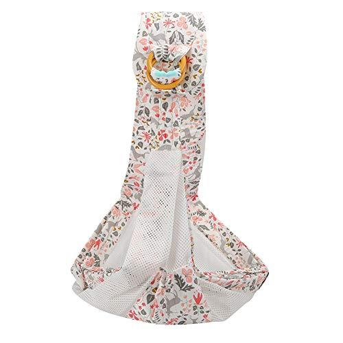 Cómodo portabebés de malla transpirable Baby Ring Sling Baby(Pink Fawn (breathable) + seat belt)