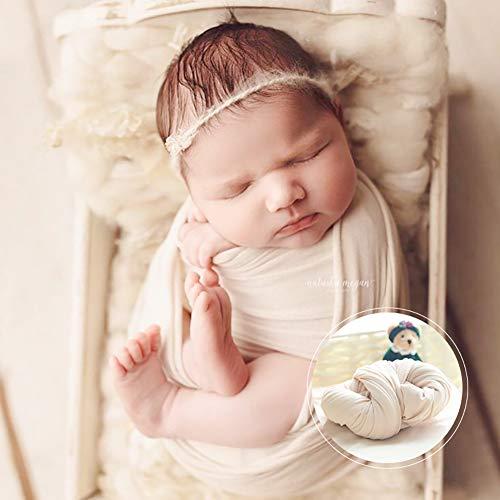 Newborn Wrap, DIY recién nacidos foto Prop Stretch Wraps, Fotografía Wrap Wrap para bebé, Baby Swaddle fotografía fondo