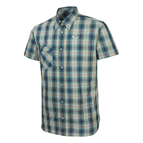 Salewa Fanes Chemise Manches Courtes Homme, Vert, FR (Taille Fabricant : 48/M)