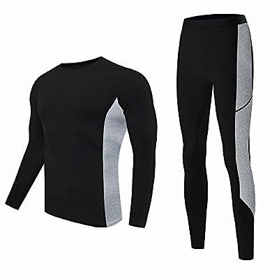 visionreast Men's Ultra Soft Thermal Underwear Set Warm Base Layers Long Johns Set Skiing Winter Black