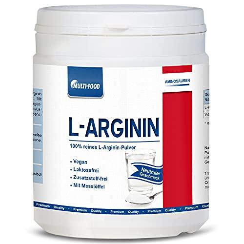 7500 mg je Tagesdosis   L-Arginin-Base Pulver   Höchste Qualität und Bio-Verfügbarkeit   Wirksamer als Arginin- HCL   300 g Dose   L-Arginin 100 Multi-Food-Produkt   Regional hergestellt