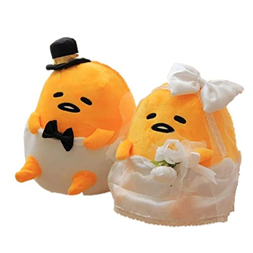 Mikucos Gudetama Lazy Egg Wedding Stuffed Plush Toys Doll Pillow Cushion Throw