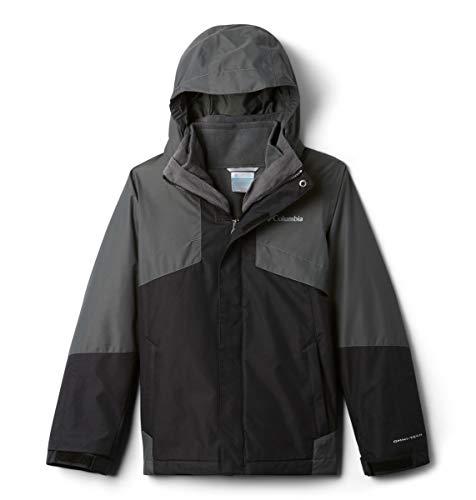 Columbia Boys Bugaboo Ii Fleece Interchange Jacket, Black, Grill, Medium